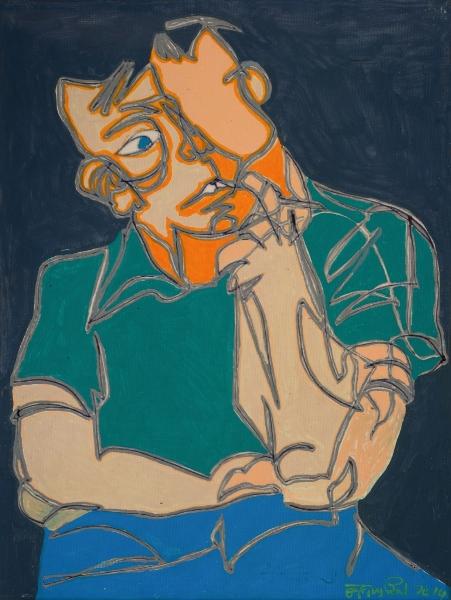 Adolescent, 2014, Acrylique Sur Toile, 40 X 30 Cm (16 X 12 In)