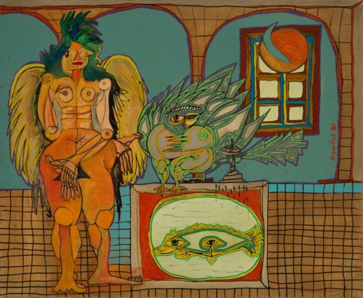 Angélique, 1990, Huile Et Acrylique Sur Toile, 60 X 73 Cm (24 X 29 In)
