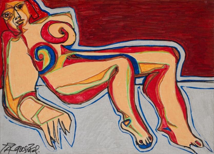 Bérénice, 2000, Acrylique Sur Toile, 33 X 41 Cm (13 X 16 In)