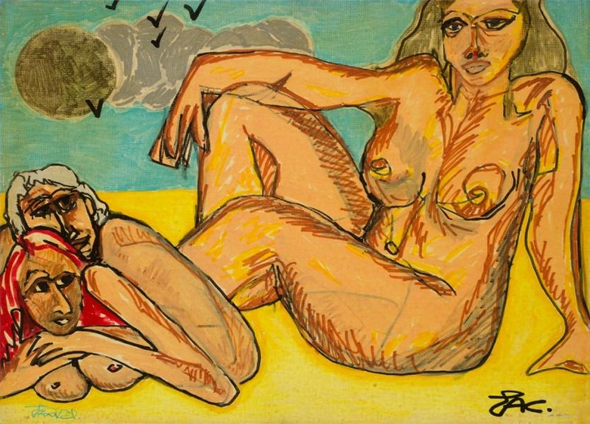 Estival, 2000, Acrylique Sur Toile, 33 X 41 Cm (13 X 16 In)