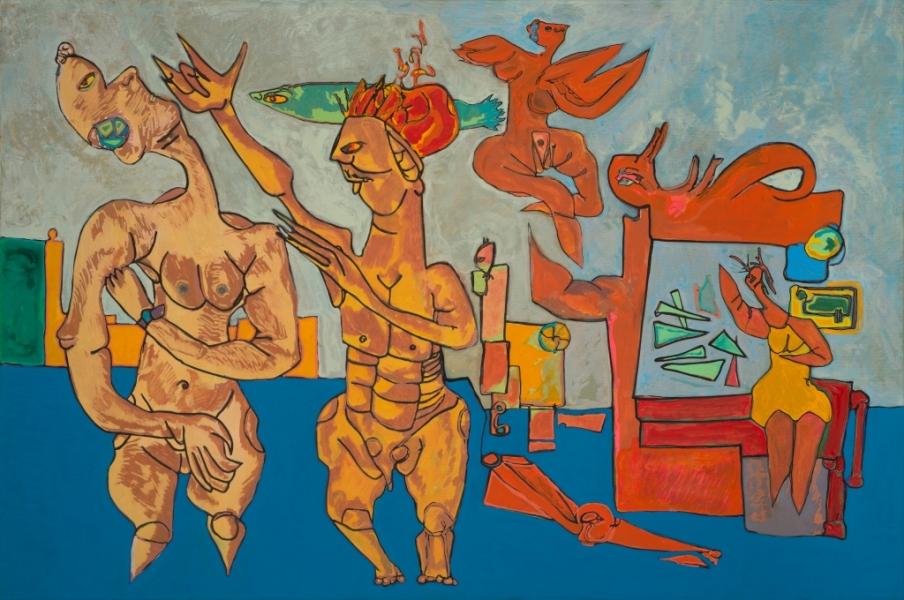 Galerie 3, 2014, Huile Et Acrylique Sur Toile, 80 X 120 Cm (31 X 47 In)