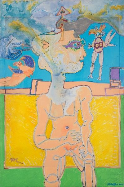 Mythologie, 2014, Huile Et Acrylique Sur Toile, 120 X 90 Cm (47 X 35 In)