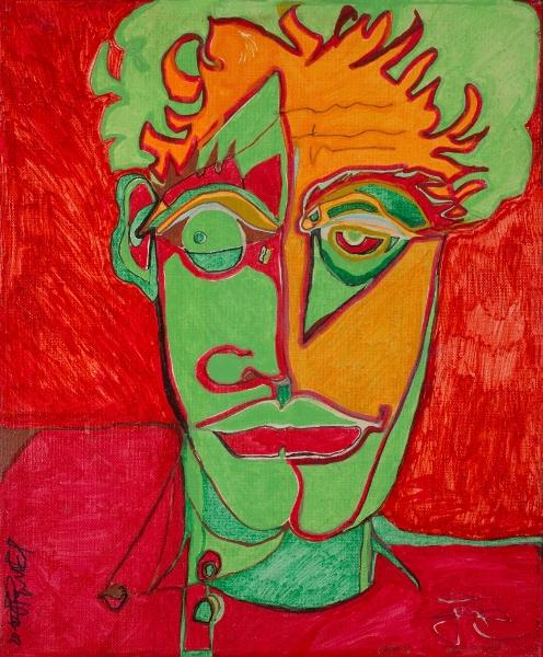 Portrait 2, 2010, Acrylique Sur Toile, 46 X 38 Cm ( 18 X 15 In)
