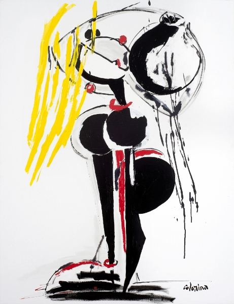 Blonde & Cruche, 2015, Technique Mixte Sur Toile, 116 X 89 Cm (46 X 35 In)