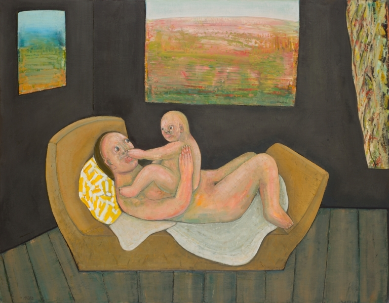 ABRAHAM HADAD Maternité I, 2012, 114 X 146 Cm (45 X 57 In)