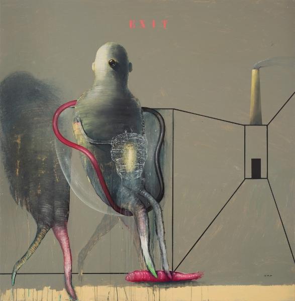 MARC GIAI MINIET Exit, 2006, Acrylique Sur Panneau De Bois, 125 X 122 Cm (49 X 48 In)