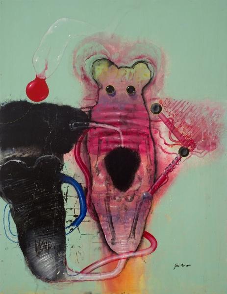MARC GIAI MINIET L'invention Des Yeux N°6, 2005, Acrylique Sur Panneau De Bois, 80 X 60 Cm (31 X 24 In)