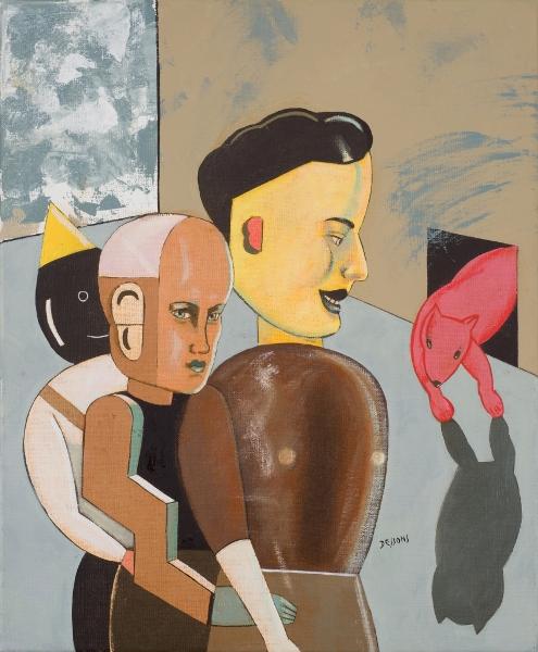 PIERRE DESSONS 3 Frères, 2011, Huile Et Acrylique Sur Toile, 46 X 38 Cm (18 X 15 In)