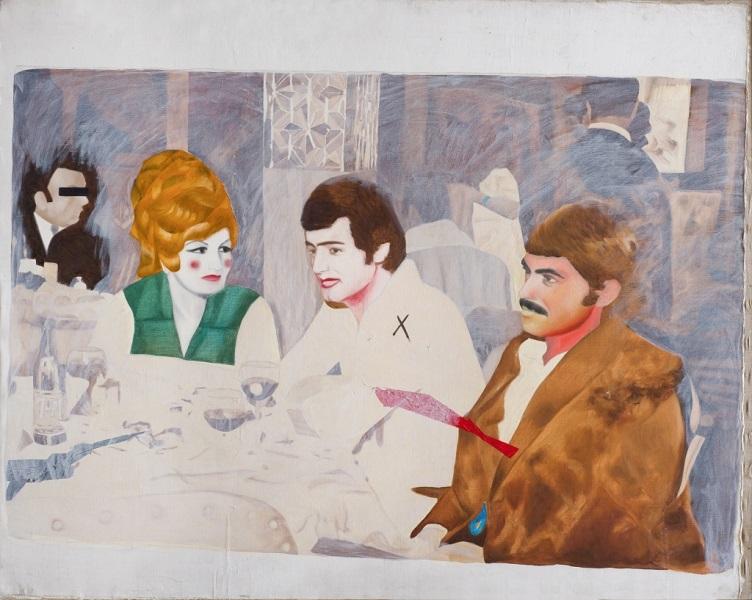 Le Cabaret Jamshid 1979 Huile Sur Toile 130 X 162 Cm 51 X 64 In