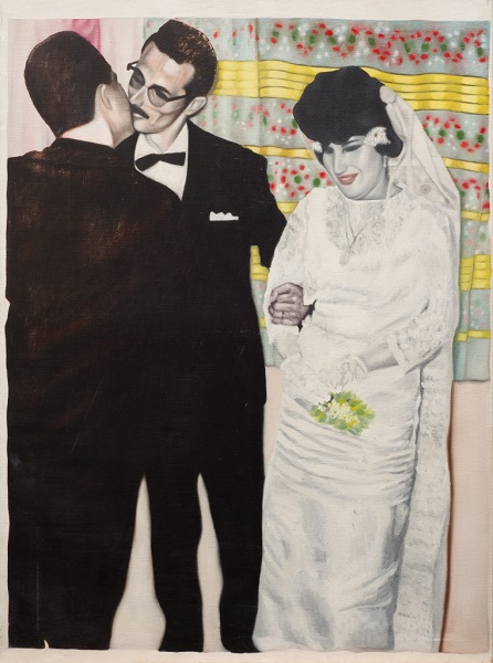 Mariage 1979 Huile Sur Toile 130 X 97 Cm 51 X 38 In