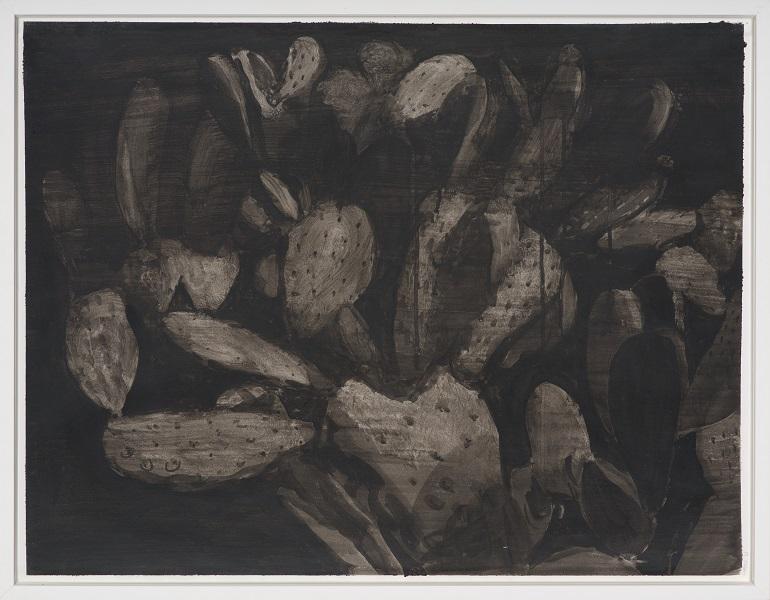 Image Inquiète (Figuier), 2013, Acrylique Sur Papier Encadrée Sous Verre, 52 X 67 Cm (20 X 26 In)