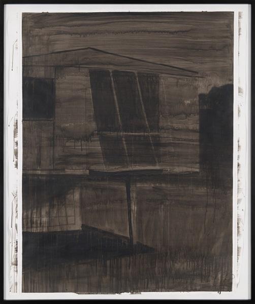 Image Inquiète (Maison Prouvé), 2012, Acrylique Sur Papier Encadrée Sous Verre, 160 X 140 Cm ( 63 X 55 In)