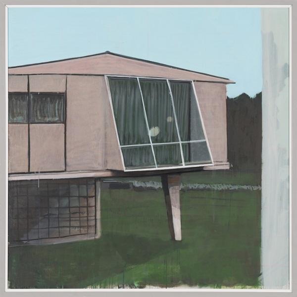 Paysage 111, 2012, Huile Sur Toile Encadrée Sous Plexiglas, 123 X 123 Cm (48 X 48 In)