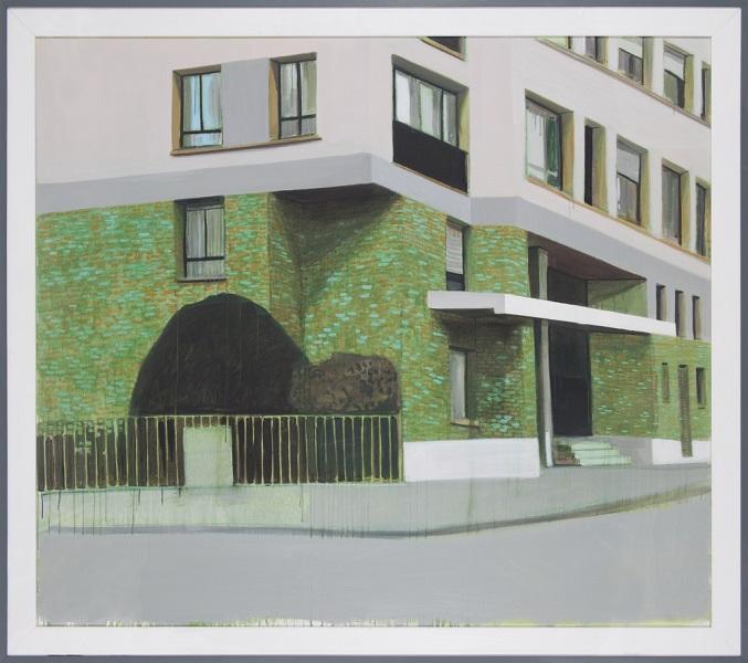 Paysage 125, 2014, Huile Sur Toile Encadrée Sous Plexiglas, 195 X 220 Cm (77 X 87 In)