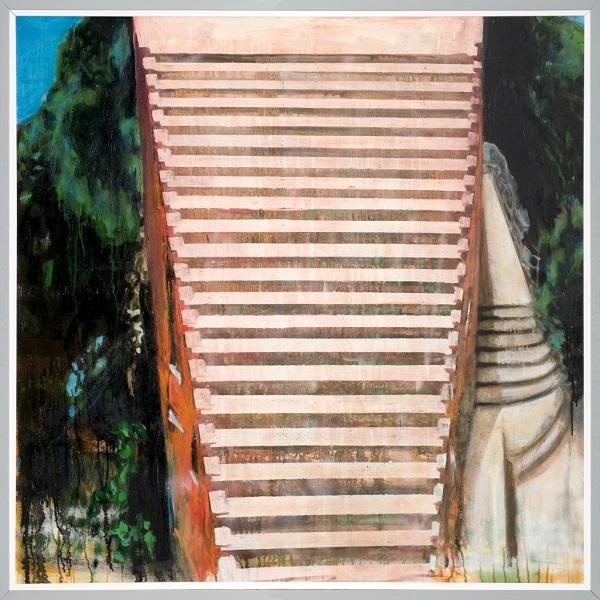 Paysage 33, 2006, Huile Sur Toile Encadrée Sous Plexiglas, 123 X 123 Cm (48 X 48 In)