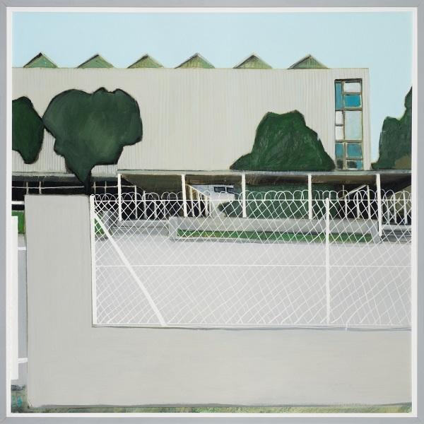 Paysage 89, 2010, Huile Sur Toile Encadréee Sous Plexiglas, 123 X 123 Cm (48 X 48 In)