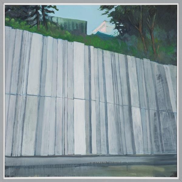 Paysage 91, 2010, Huile Sur Toile Encadrée Sous Plexiglas, 123 X 123 Cm (48 X 48 In)