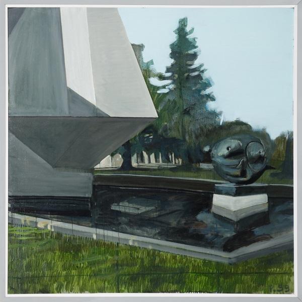 Paysage 99, 2011, Huile Sur Toile Encadrée Sous Plexiglas, 123 X 123 Cm (48 X 48 In)