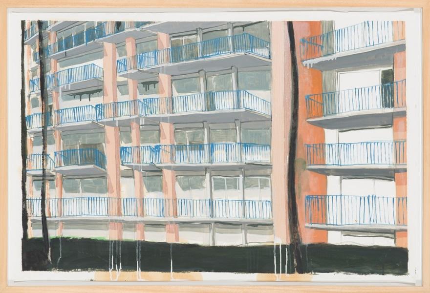 Sans Titre, 2006, Huile Sur Papier, 81 X 119 Cm (32 X 47 In)